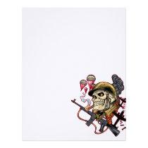 skull,, skulls,, airborne,, marine,, marines,, corps,, parachute,, skeleton,, skeletons,, al rio, Papel de cartas com design gráfico personalizado