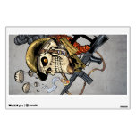Smoking Skull with Helmet, Airplanes and Bombs Room Graphics