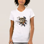 Smoking Skull with Helmet, Airplanes and Bombs Shirt