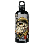 Smoking Skull with Helmet, Airplanes and Bombs SIGG Traveler 0.6L Water Bottle