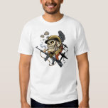 Smoking Skull with Helmet, Airplanes and Bombs T-shirt