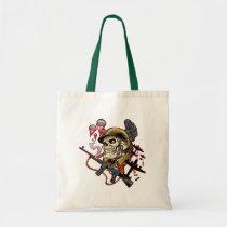skull,, skulls,, airborne,, marine,, marines,, corps,, parachute,, skeleton,, skeletons,, al rio, Bag with custom graphic design