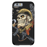 Smoking Skull with Helmet, Airplanes and Bombs Tough iPhone 6 Case