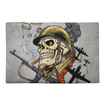 airborne, military, parachutes, skull, skeleton, gothic, war, veterans, art, illustration, al rio, [[missing key: type_bagettes_ba]] with custom graphic design