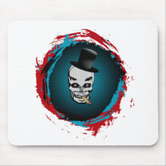 Smoking Skull with Tophat Mouse Pad