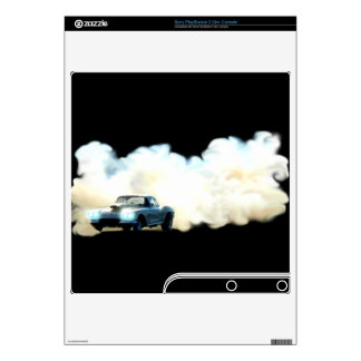Smoking Sportster Drag-car Playstation 3 Skin PS3 Slim Console Decal