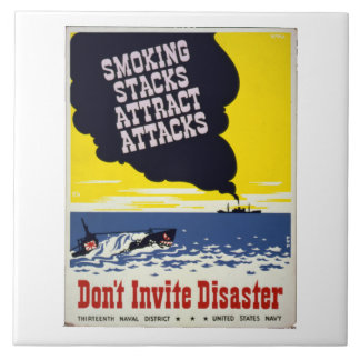 Smoking Stacks Attract Attacts WPA Decorative Tile