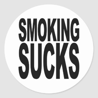 Smoking Sucks Classic Round Sticker