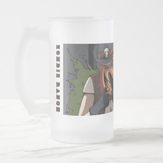 Smoking Suzie Frosted Glass Beer Mug