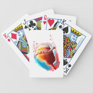 smoking turtle bicycle playing cards