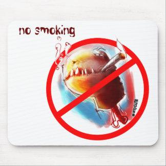 smoking turtle mouse pad