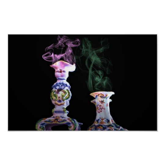 smoking vases,canvas poster