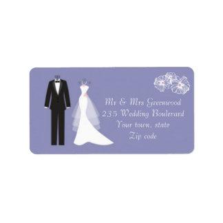 Smoking, vestido de boda en etiqueta de dirección