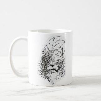 Smoking Wolf Coffee Mugs