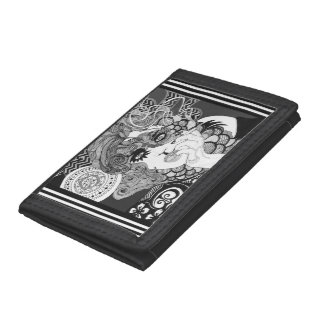 Smoking woman wallet