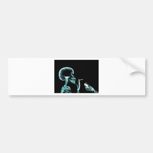 smoking x-rays bumper sticker