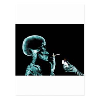 smoking x-rays postcard