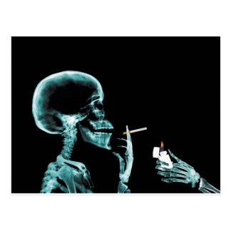 smoking x-rays post card