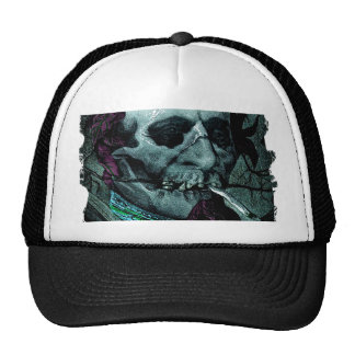 Smoking Zombie Man Stoner Bizarre Vintage Art Trucker Hat