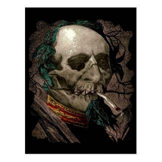 Smoking Zombie Man Stoner Bizarre Vintage Art Postcard