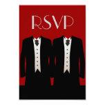 Smokinges RSVP Invitación Personalizada