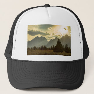 Smoky Golden Light On The Tetons Trucker Hat