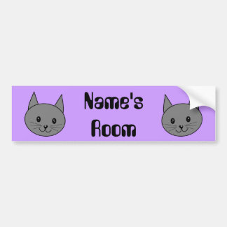 Smoky Gray Cat. Bumper Sticker