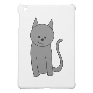 Smoky gray cat cartoon iPad mini cases