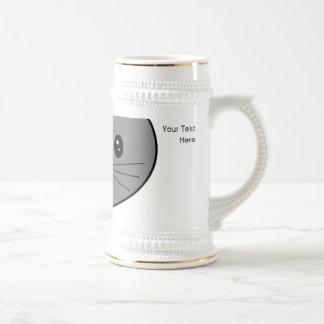 Smoky Gray Cat. Mugs