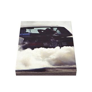 smoky heated  car canvas print