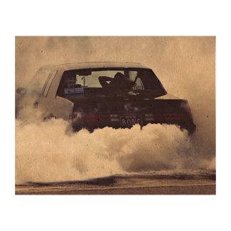 smoky heated  car cork paper print