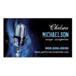 Smoky Microphone Performers Business Card