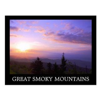 Smoky Mountain - Clingman Dome Sunrise Post Card