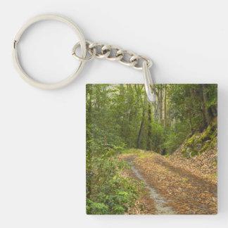 Smoky Mountain Dirt Road Square Acrylic Keychain