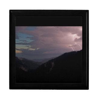 Smoky Mountain Lightning Trinket Boxes