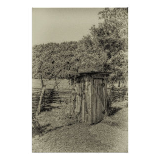 Smoky Mountain Outhouse Poster