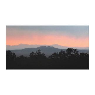 Smoky Mountain Skyline Sunrise Stretched Canvas Canvas Print