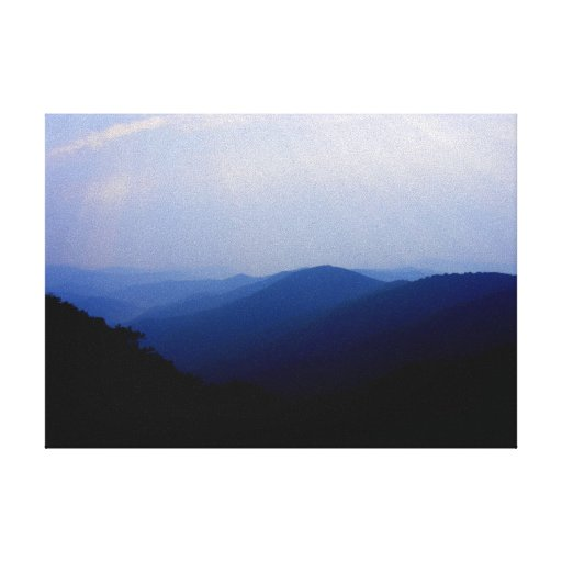 Smoky Mountain Sunrise Stretched Canvas Print