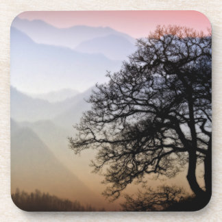 Smoky Mountain Sunset from the Blue Ridge Parkway Beverage Coaster