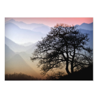 Smoky Mountain Sunset from the Blue Ridge Parkway Card