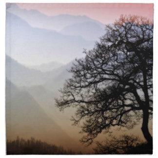 Smoky Mountain Sunset from the Blue Ridge Parkway Cloth Napkin