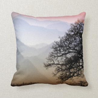 Smoky Mountain Sunset from the Blue Ridge Parkway Throw Pillow