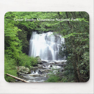 Smoky Mountain Waterfall Mouse Pad