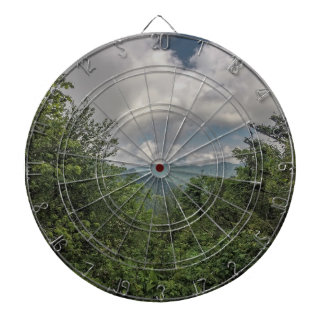 smoky mountains dartboard with darts