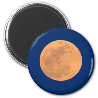 Smoky Mountains Moon Rise 2 Inch Round Magnet