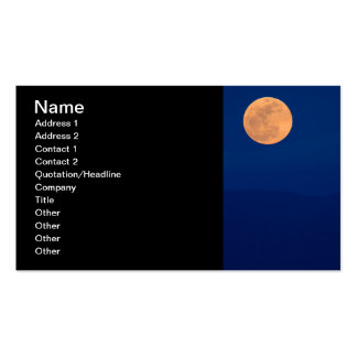 Smoky Mountains Moon Rise Business Card