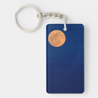 Smoky Mountains Moon Rise Keychain