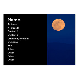 Smoky Mountains Moon Rise Large Business Card