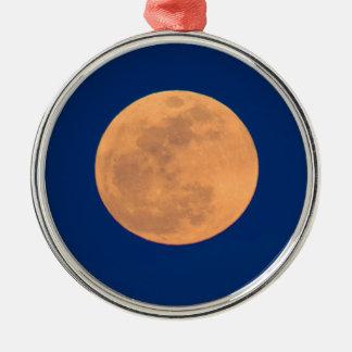 Smoky Mountains Moon Rise Metal Ornament