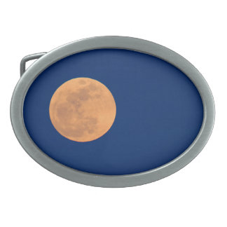 Smoky Mountains Moon Rise Oval Belt Buckle